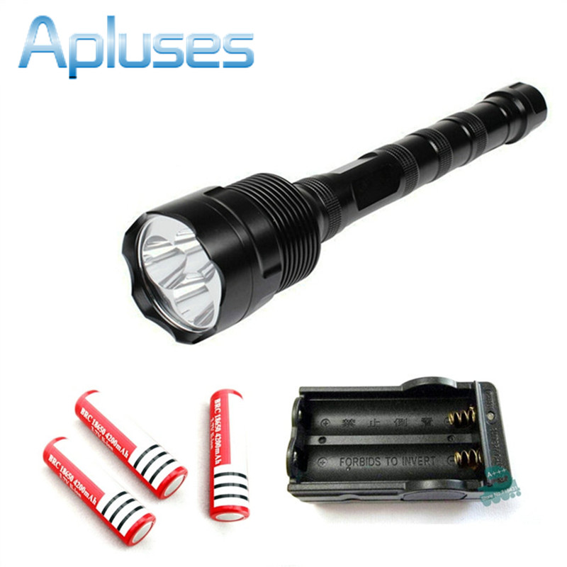 3800Lm TrustFire 3x CREE XM-L T6 5 Modes LED Flashlight waterproof Torch light outdoor lamp + 3piece 18650 battery + charger