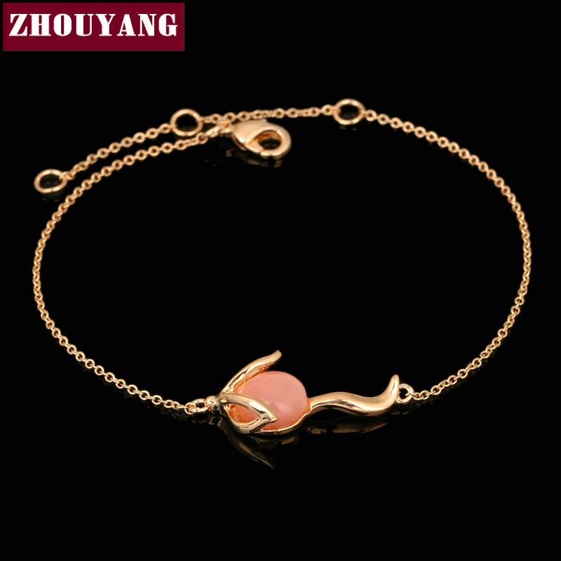 Top Quality Cute Pink Fox Rose Gold Color Bracelet Jewelry Austrian Crystals Wholesale ZYH094 ZYH095