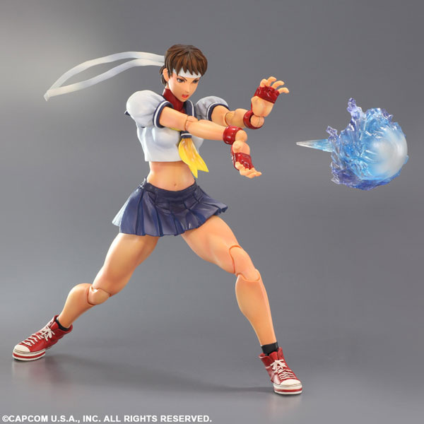 MODEL HAYRANLARı Street Fighter Action Figure Oyna Sanatları Kai Sakura 250 MM Anime Model Oyuncaklar Street Fighter Playarts Sakura