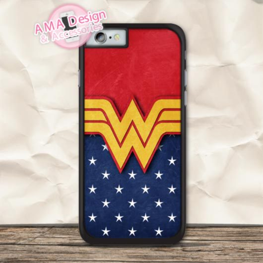 Superhero Wonder Woman Kapak Kılıf iphone X 8 7 6 6 s Artı 5 5 s SE 5c ipod touch Için 4 4 s